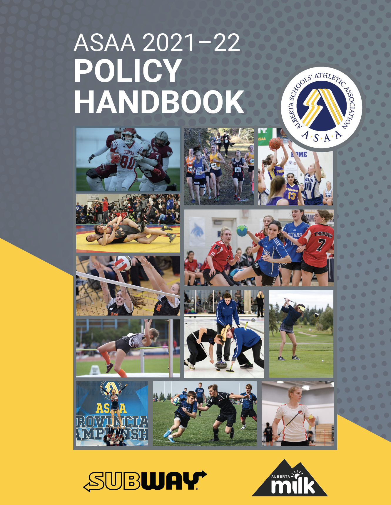 Cover Page of ASAA Policy Handbook 2021-22