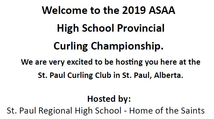 Welcome to the 2019 ASAA Curling Provincials